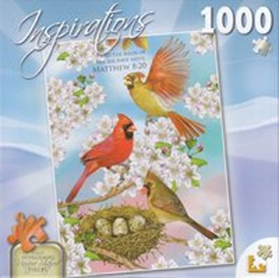 Cardinals & Cherry Blossoms 1000 Piece Puzzle