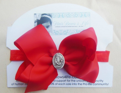 Red Christmas Birth of Jesus Headband