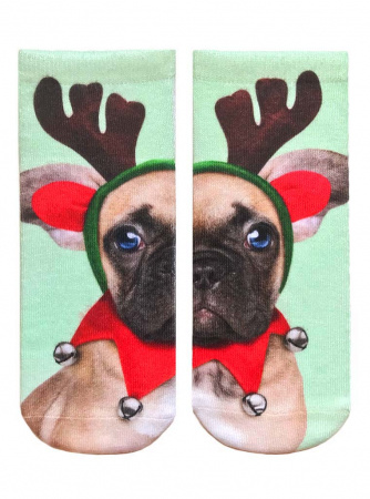 Elf Puppy Ankle Socks