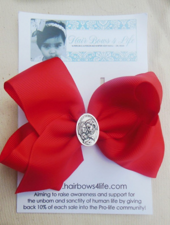 Red Holy Family Bow